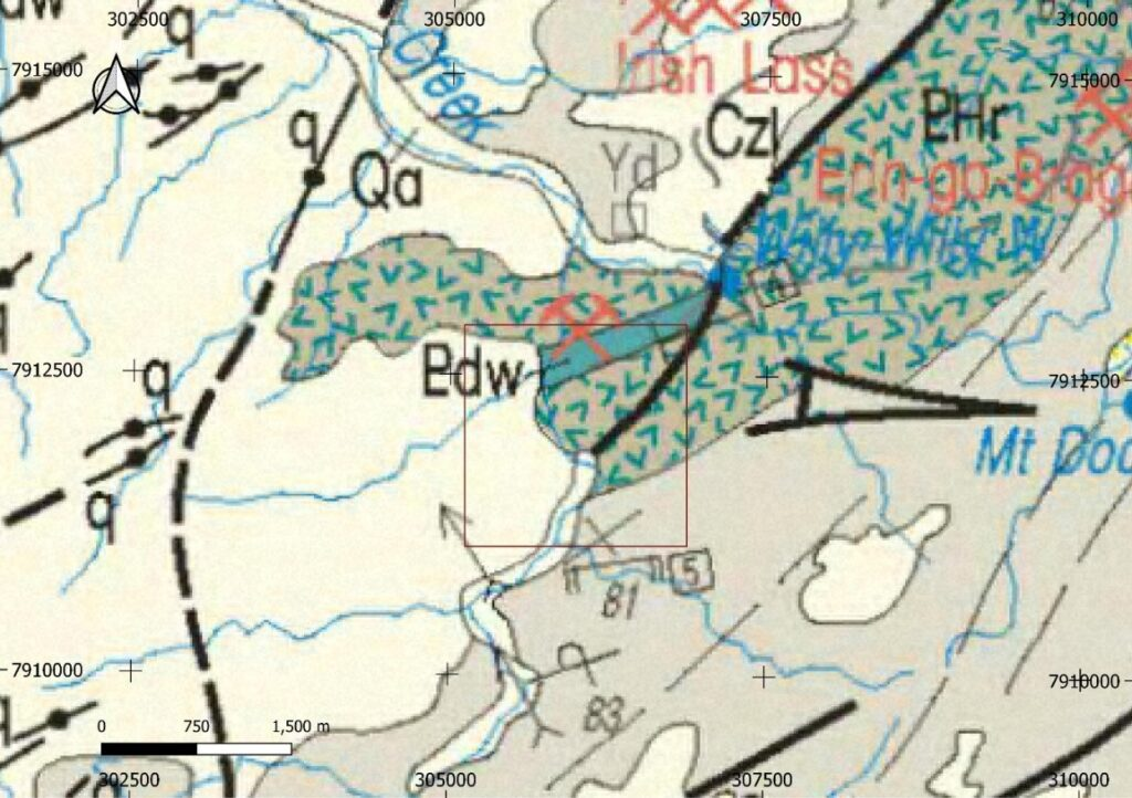 Horry Project - Local Geology (with GSWA 250k Geology)