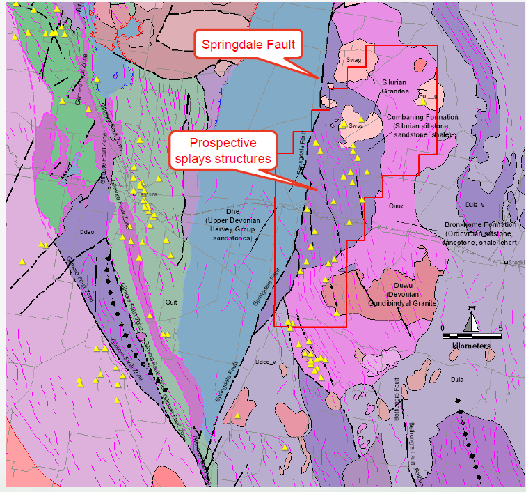 Springdale Project – Local Geology (NSW Seamless Geology)